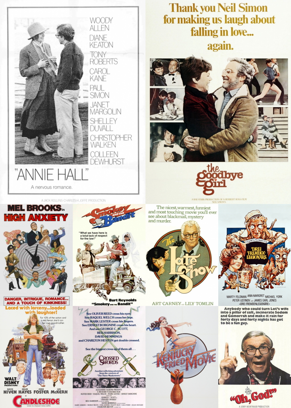Top 1-10 Comedy Movies 1977