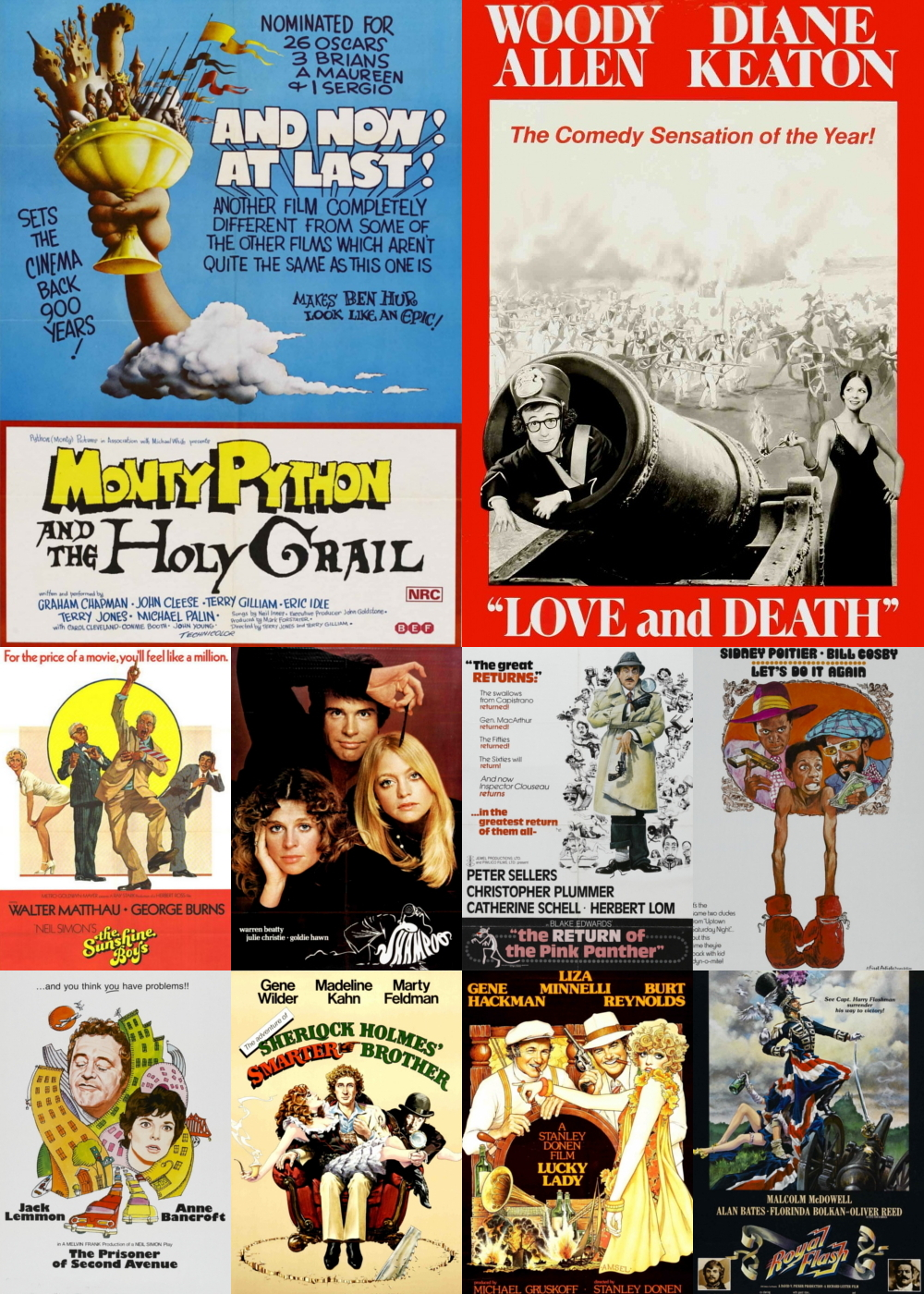 Top 1-10 Comedy Movies 1975