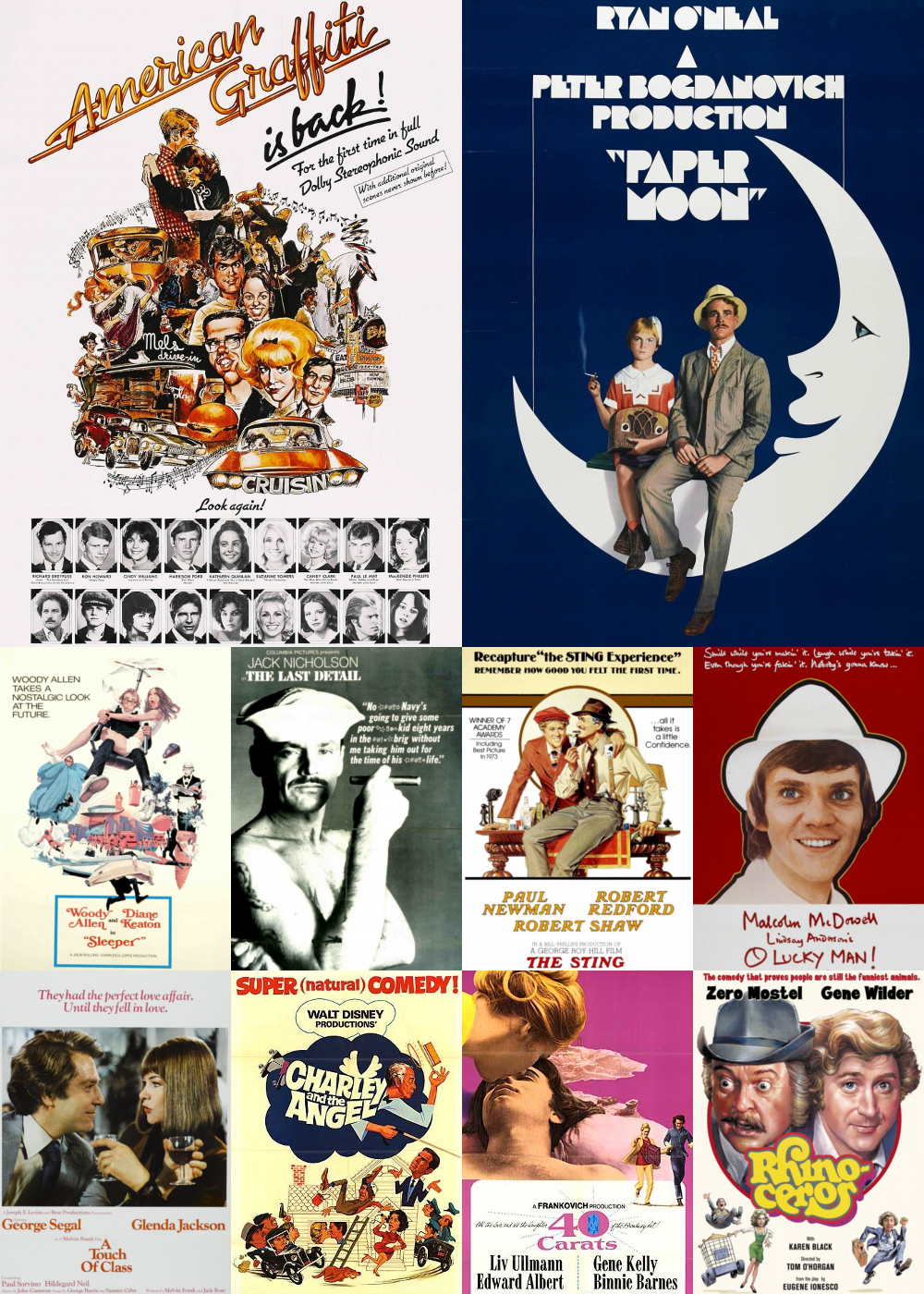 Top 1-10 Comedy Movies 1973