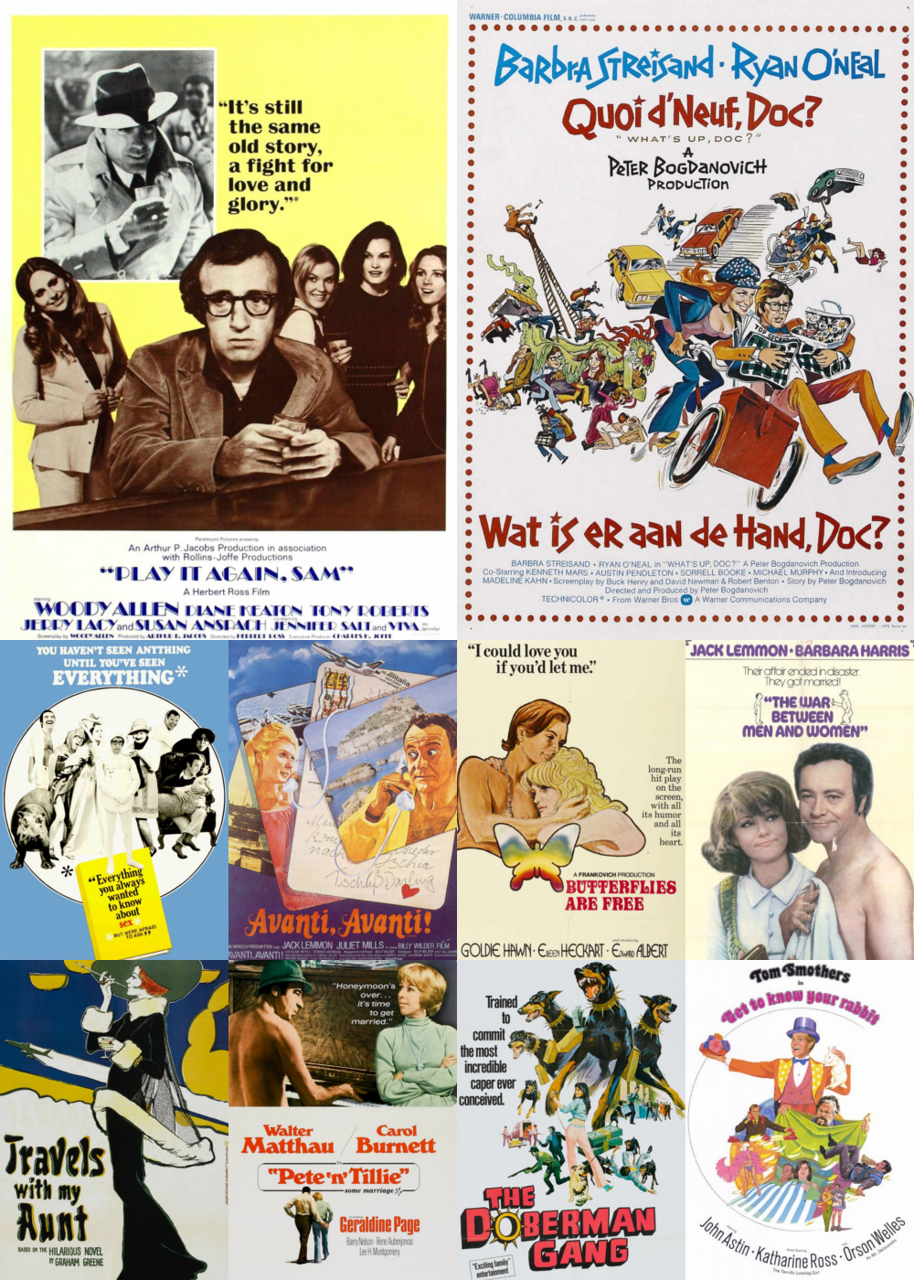 Top 1-10 Comedy Movies 1972