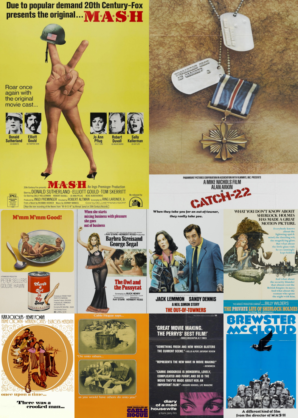 Top 1-10 Comedy Movies 1970