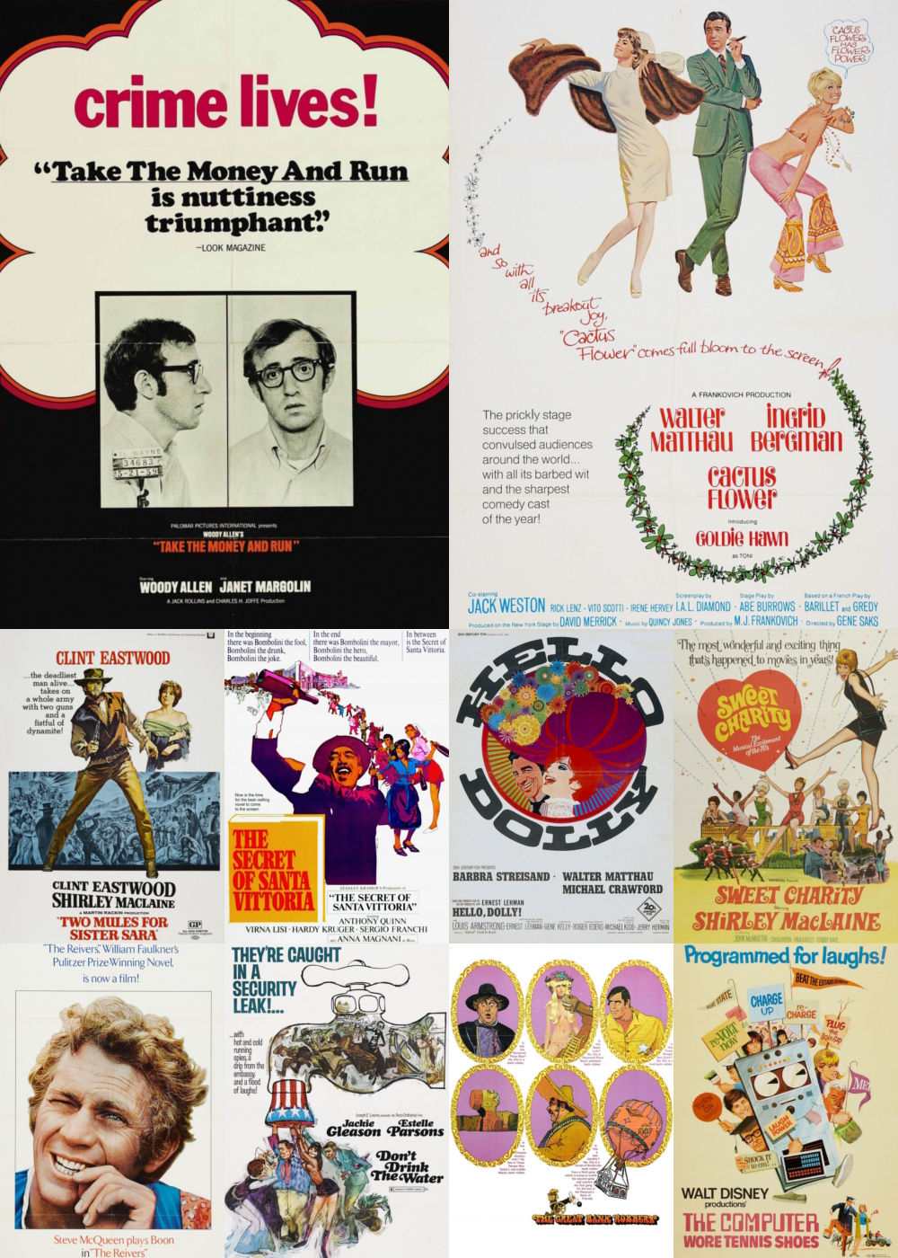 Top 1-10 Comedy Movies 1969