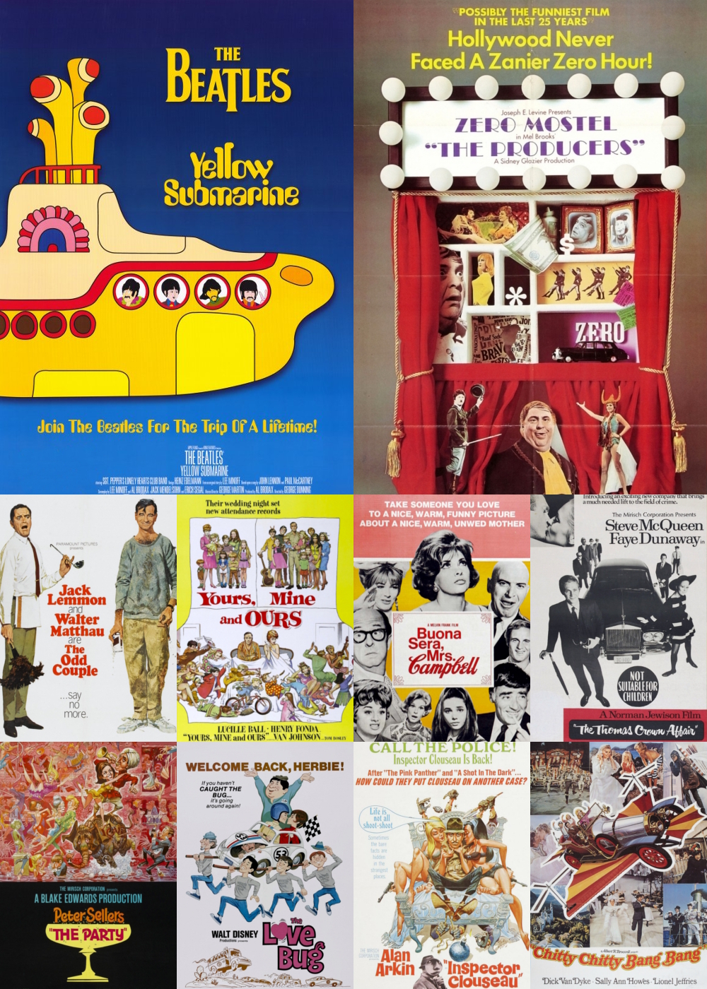 Top 1-10 Comedy Movies 1968