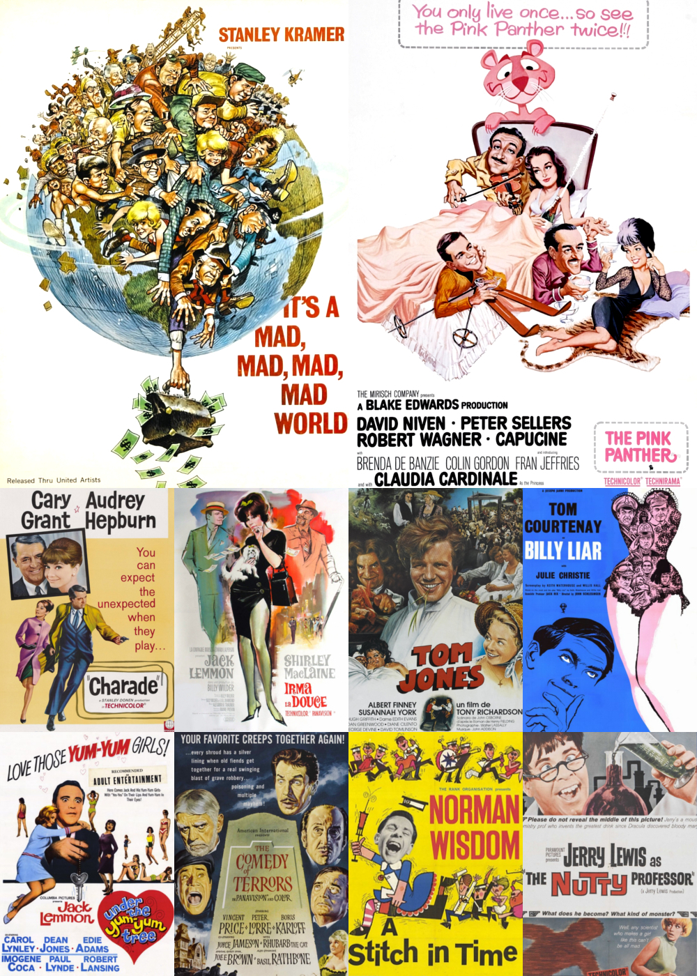 Top 1-10 Comedy Movies 1963