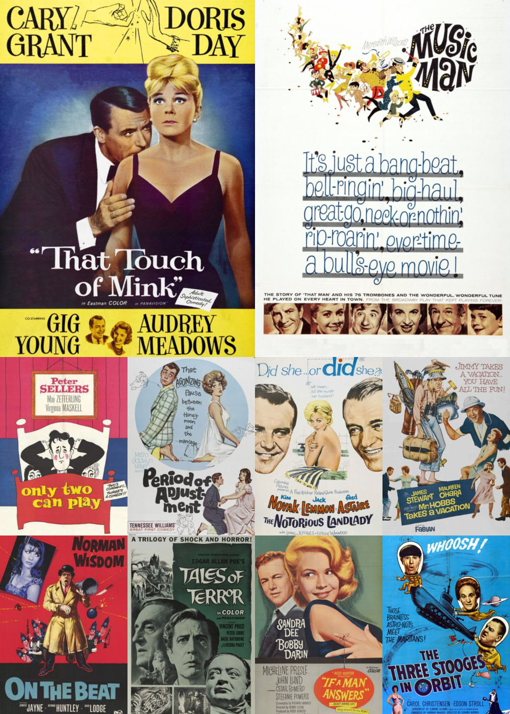 Top 1-10 Comedy Movies 1962