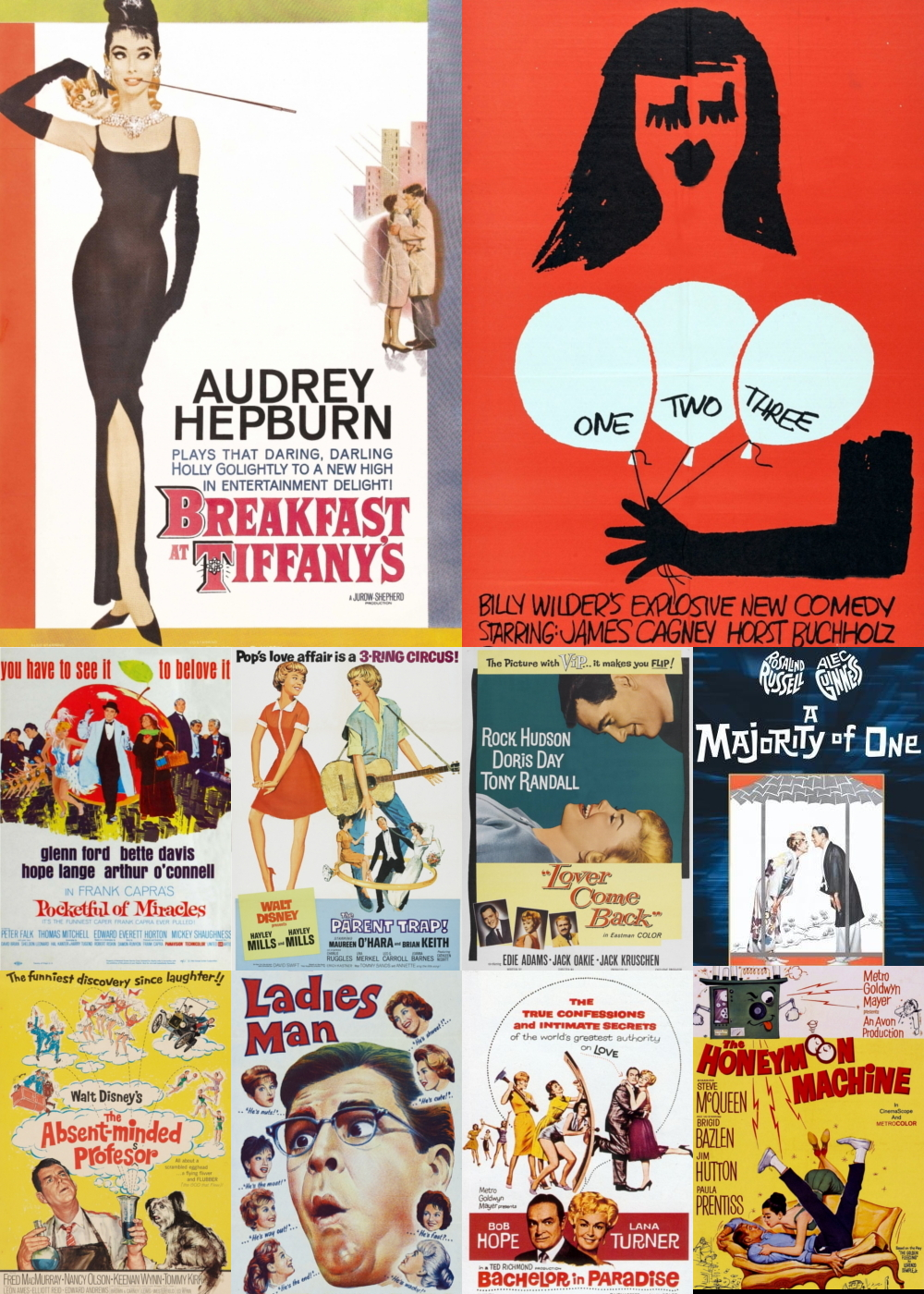 Top 1-10 Comedy Movies 1961