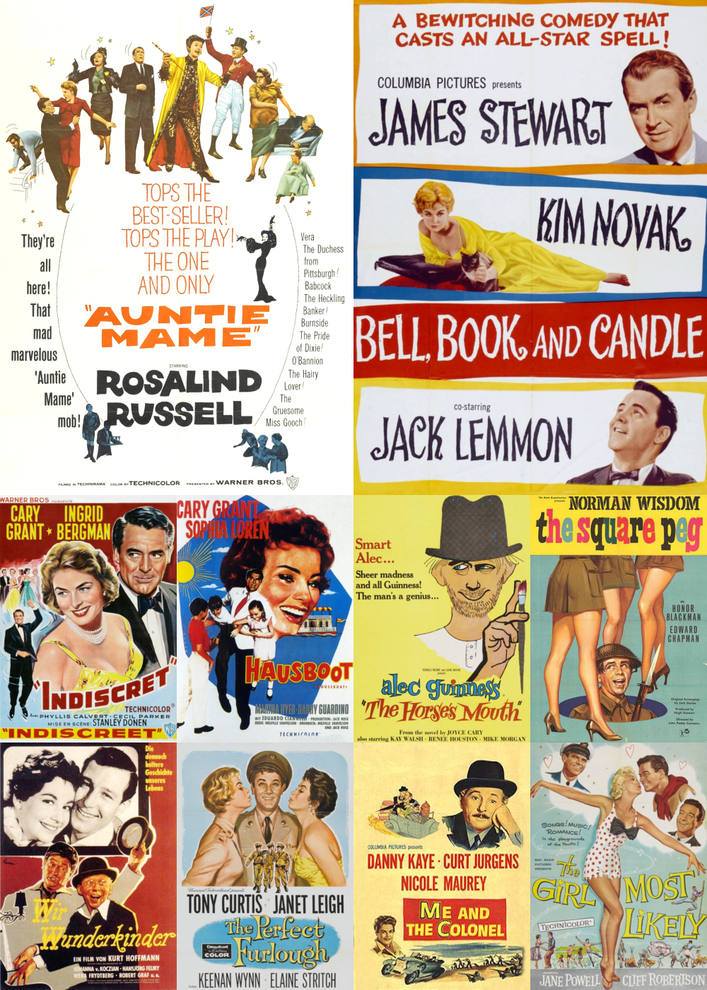 Top 1-10 Comedy Movies 1958