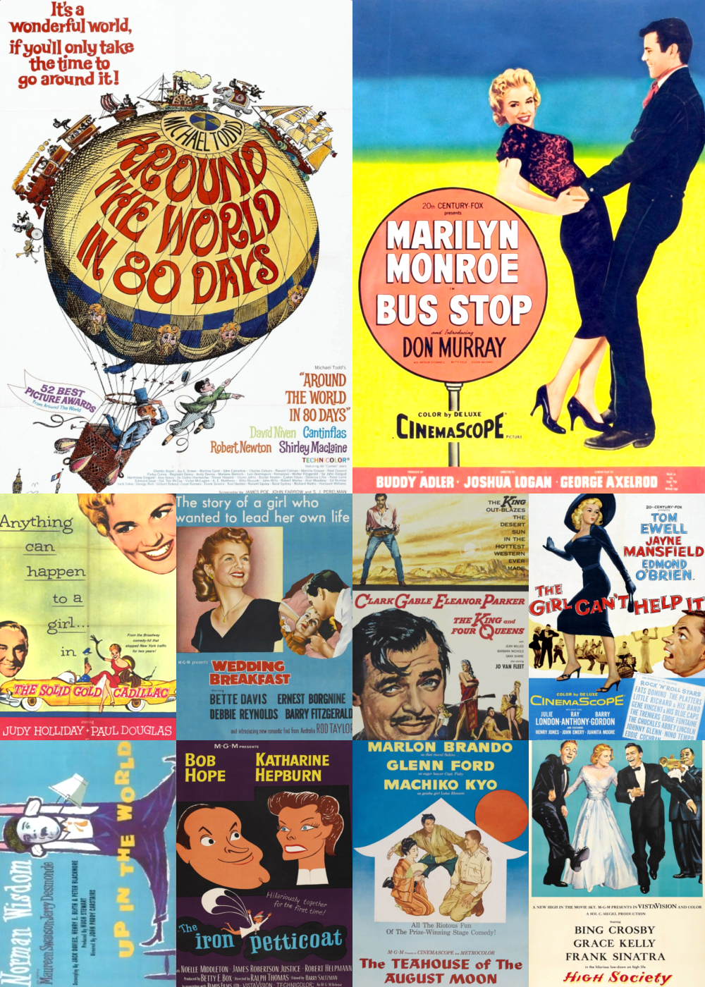 Top 1-10 Comedy Movies 1956