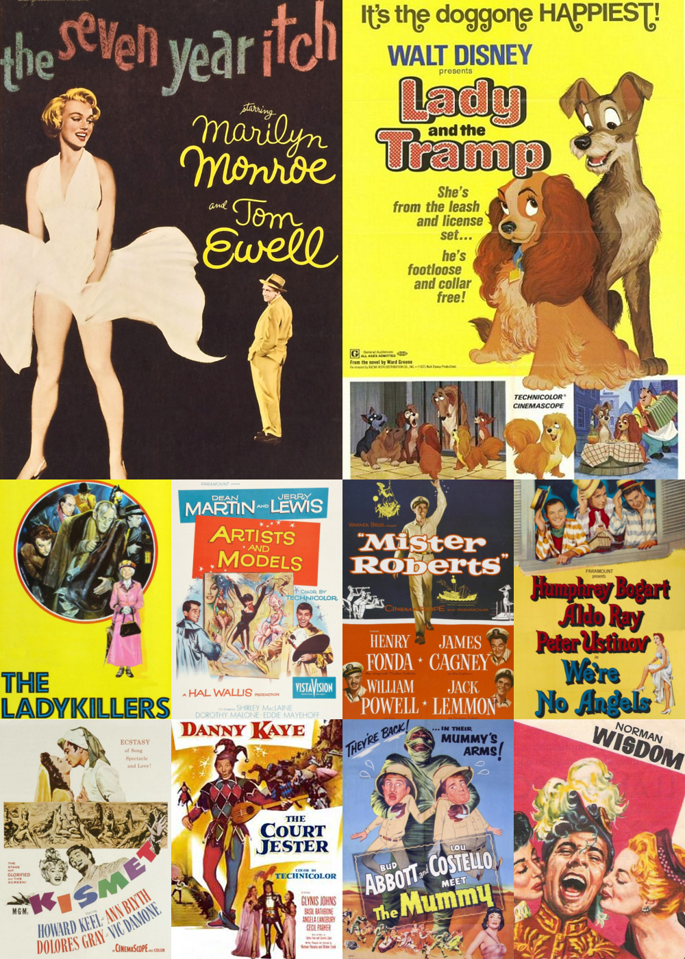 Top 1-10 Comedy Movies 1955