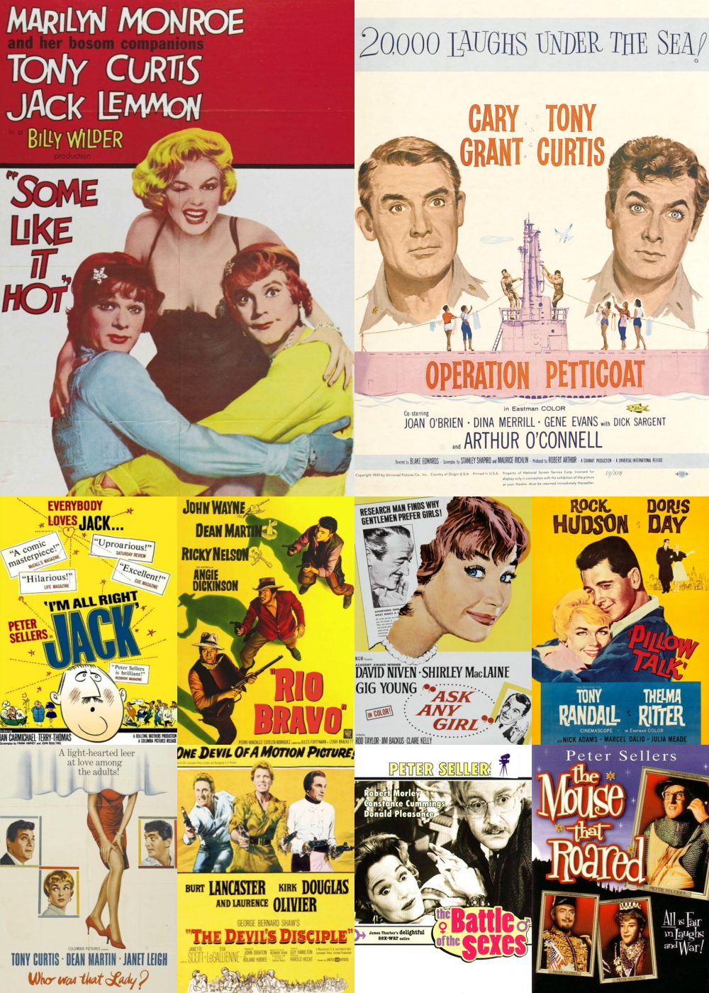 Top 1-10 Comedy Movies 1959
