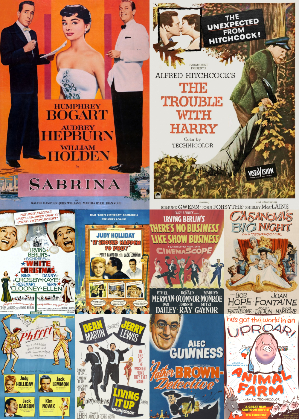 Top 1-10 Comedy Movies 1954