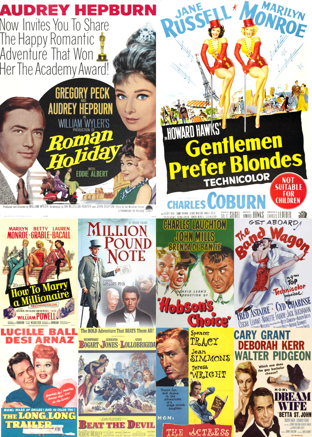 Top 1-10 Comedy Movies 1953