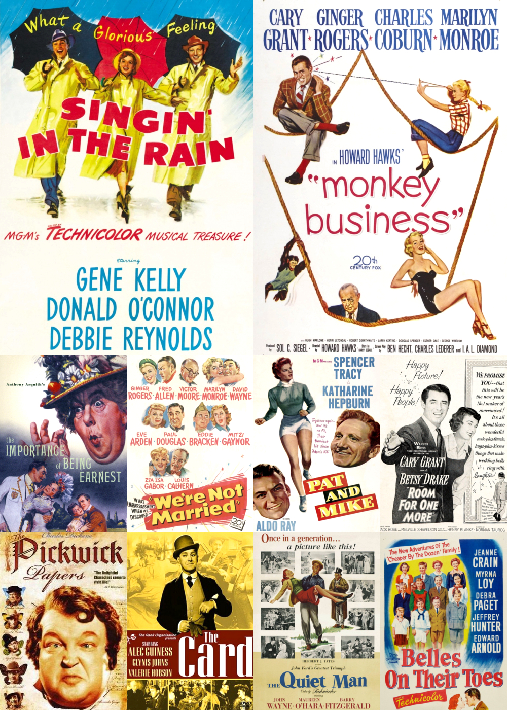 Top 1-10 Comedy Movies 1952