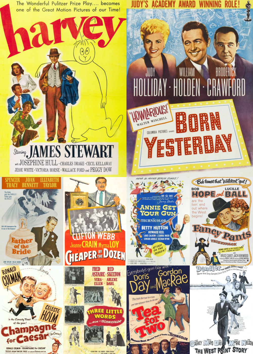 Top 1-10 Comedy Movies 1950