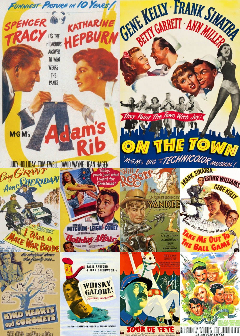 Top 10 Comedy Movies 1949