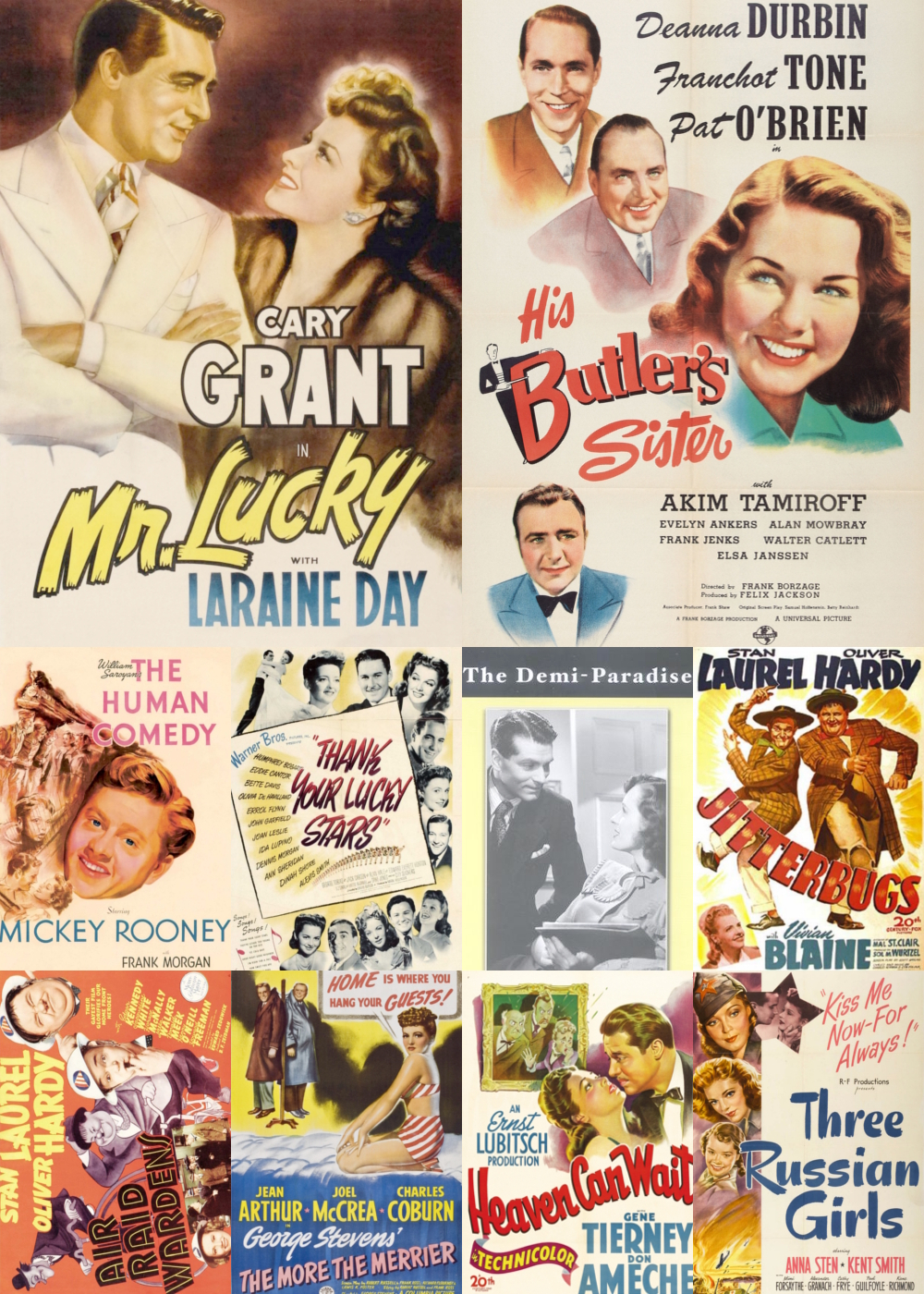 Top 10 Comedy Movies 1943