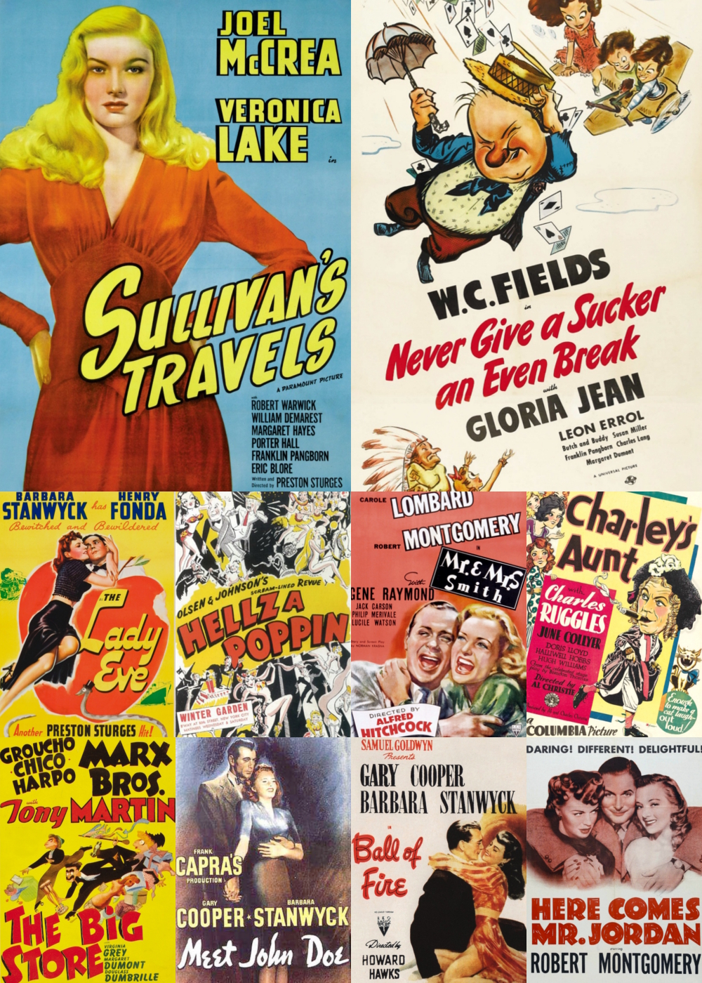 Top 1-10 Comedy Movies 1941