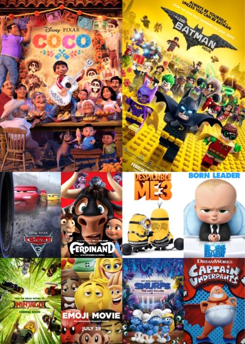 ТОП-10 анимационных комедий 2017-года