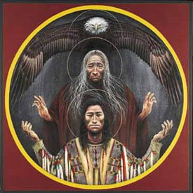 Святая Троица_Индейская иконопись
