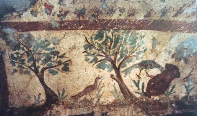 tomb 29 birds trees