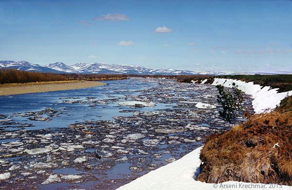 ледоход на реке убиенке