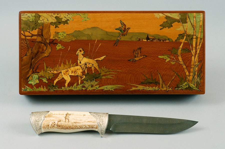 Нож Охота с легавыми
