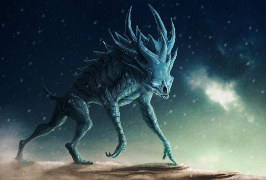 Ice Demon by Katarzyna Zalecka