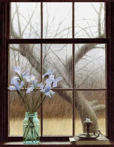 Осень рига осень дождь окно свет фонаря ночь двор