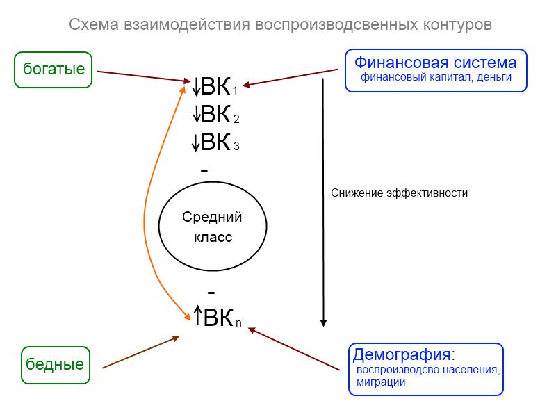 Взаимодействе воспроизводсвенных контуров