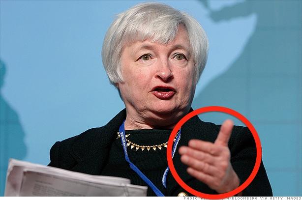 Глава ФРС Джаннет Йелен демонстрирует новую мировую валюту