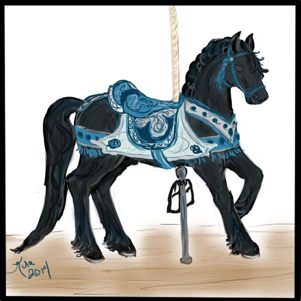 Friesian-carousel-horse