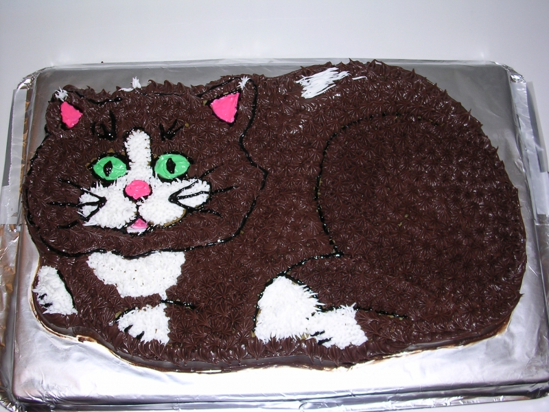 kitty bday cake