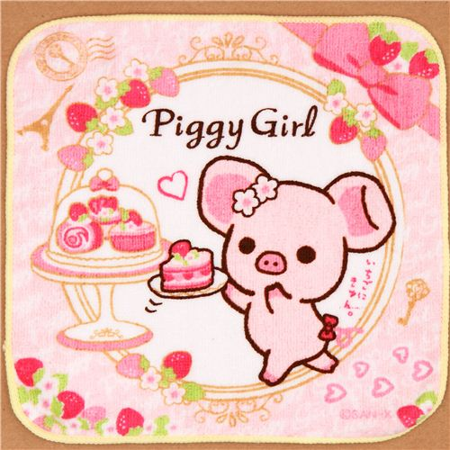 Piggy-Girl-pig-cake-strawberry-towel-from-Japan-179828-1