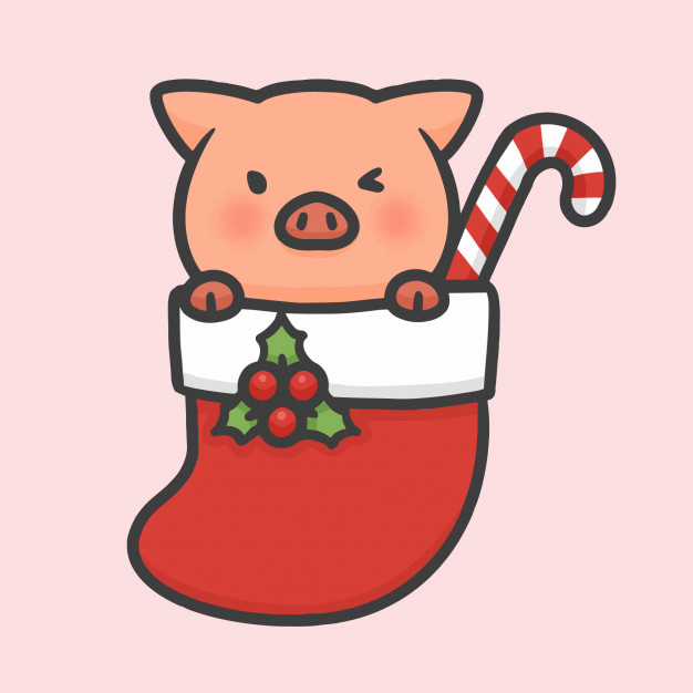 cute-pig-sock-christmas-hand-drawn-cartoon_42349-219