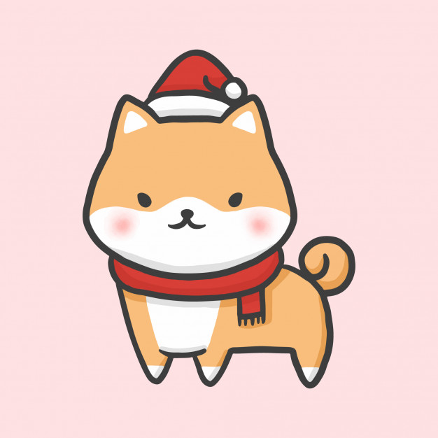 cute-shiba-costume-christmas-hand-drawn-cartoon-style-vector_42349-194