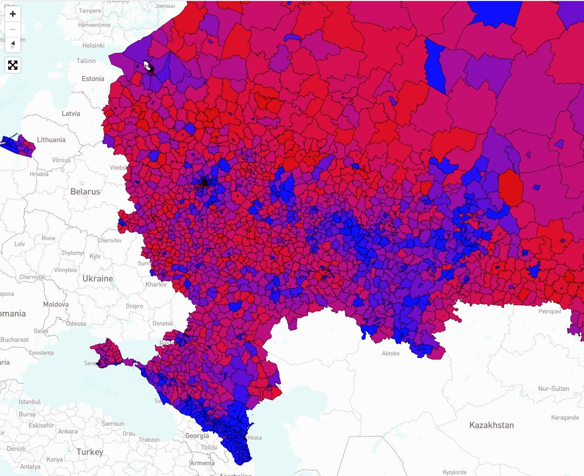 География полового состава муниципальных депутатов в России