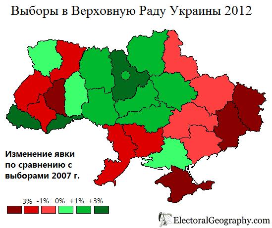 Свіженька електоральна мапа від ЖЖ юзера kireev