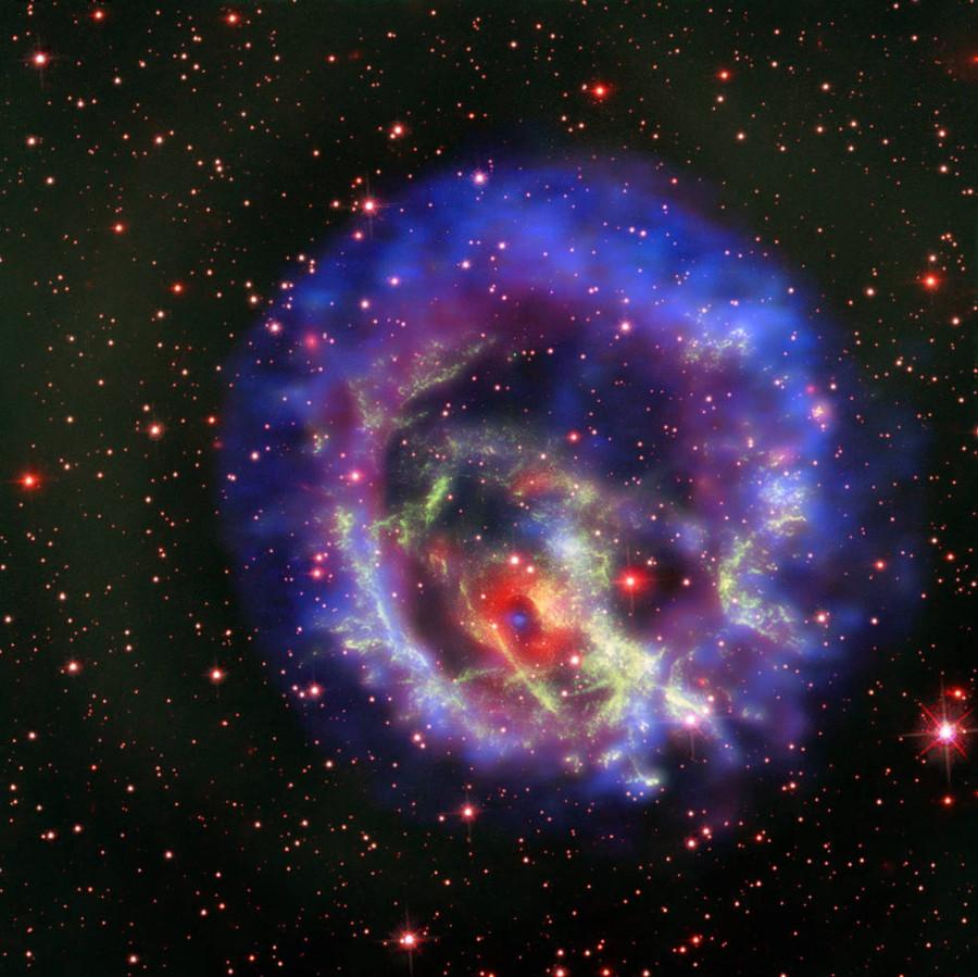Астрономы изучили одинокую нейтронную звезду в соседней галактике