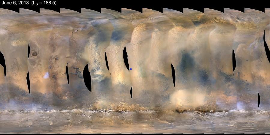 Марсоход Opportunity попал в сильную пылевую бурю