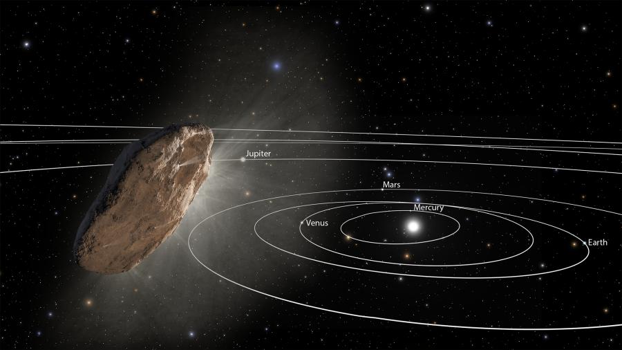 Межзвездный объект `Оумуамуа ускорился