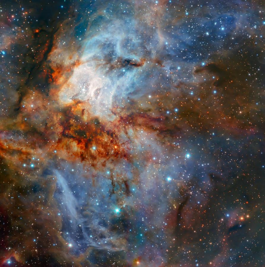 Небесная живопись скопления RCW 38