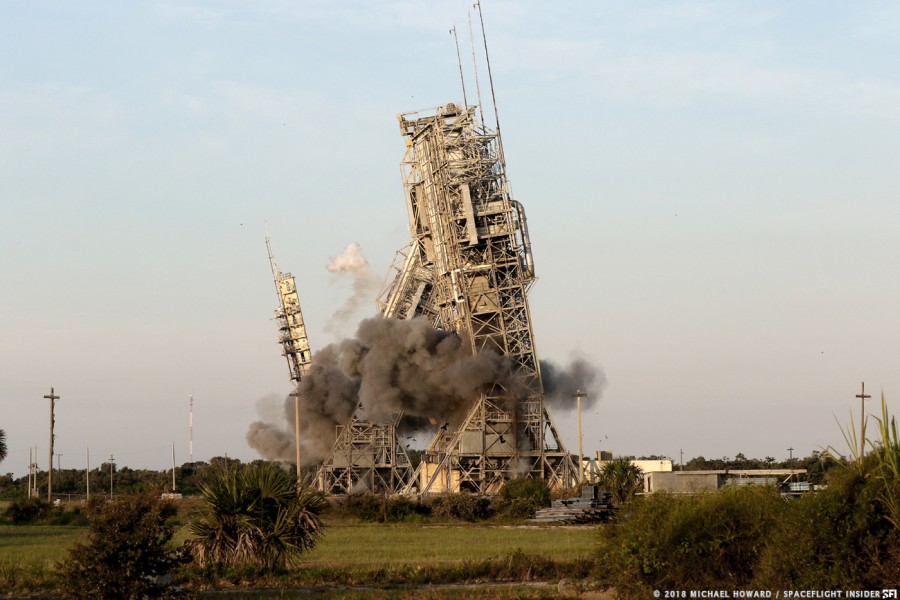 Снос стартового комплекса 17 Delta, SLC17, этого, башни, После, комплекс, компании, пусковые, стартового, комплекса, ракета, частной, аренду, разработкой, фирме, Express, занимающейся, лунного, спускаемого, территорию