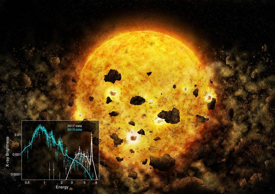 Телескоп Chandra обнаружил следы погибшей экзопланеты