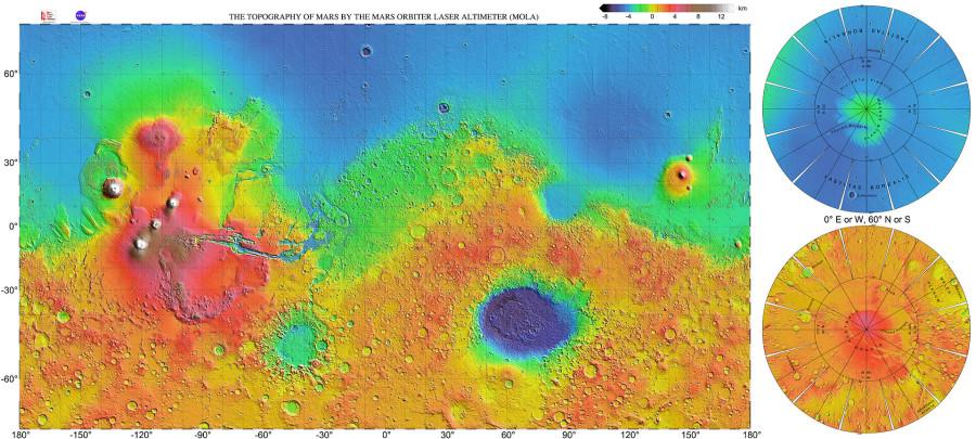 Регион Nili Fossae  глазами Mars Express