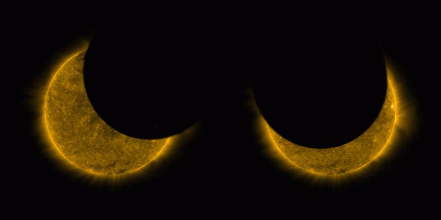 Спутник Proba-2 сфотографировал частное солнечное затмение