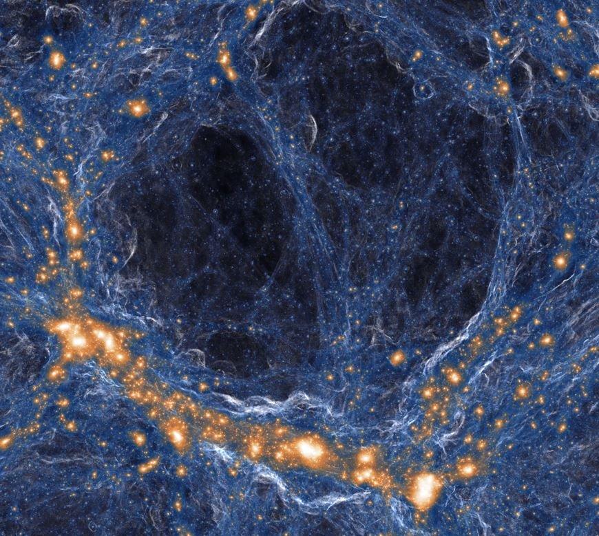 Астрономы нашли «пустынный» регион на краю Вселенной