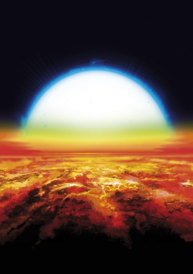 Astronomers have found iron and titanium in the atmosphere exoplanets KELT9b, temperature, atmosphere, iron, titanium, about, is, more, can, distance, real, exoplanets, surfaces, stars, size, powerful, total, daily, signal, corresponding