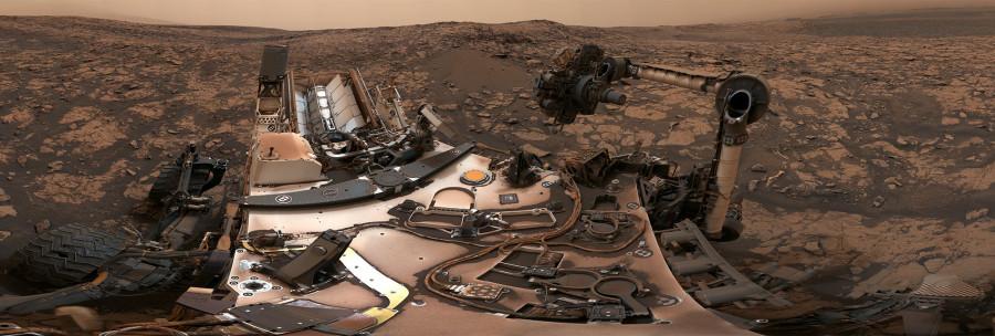 Curiosity сделал панораму во время пылевой бури