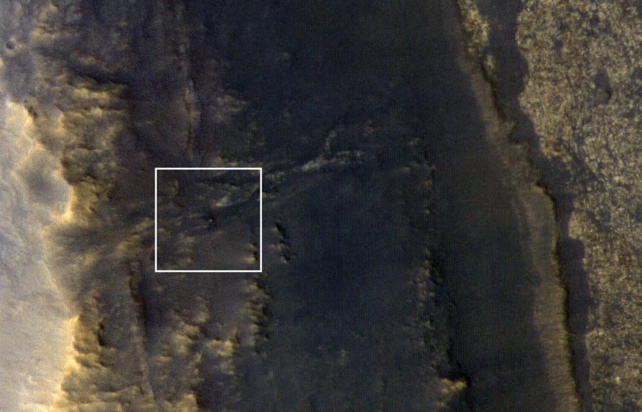 Станция MRO сфотографировала марсоход Opportunity