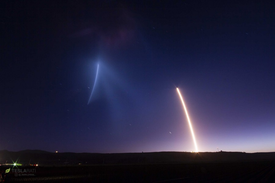 The first landing of the Falcon 9 on the West Coast. Falcon, successfully, rockets, stage, very, B1048, landing, space, After, branch, Quiet, barges, autonomous, land, ocean, previous, used, Then, Vandenberg, flew